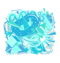 cool fresh blue ice composition chaotic color vector image