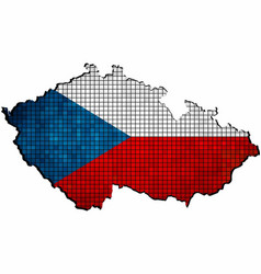 czech republic map with flag inside vector image