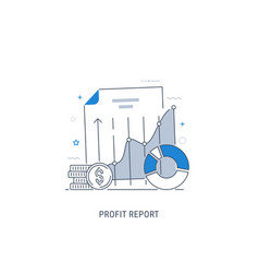 data analytics and profit report vector image
