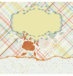 Design with colorful label on light fabric EPS 8 vector