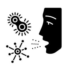 Dust allergy glyph icon vector