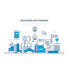 education training distance learning knowledge vector image