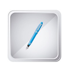 emblem blue ballpoint icon vector image