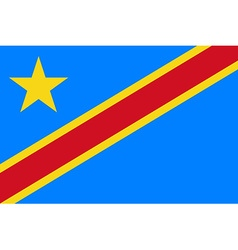 Flag of Democratic Republic of Congo vector image