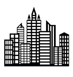flat icon buildings vector image