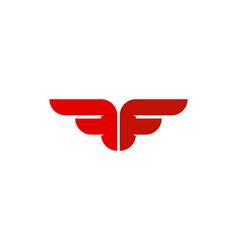 Fly letter f logo icon design vector