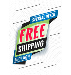 Free shipping promotional concept template vector