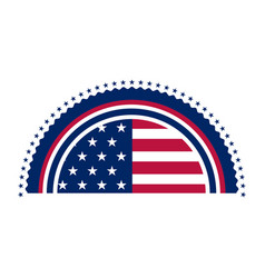 Half cut american campaign button vector