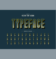 Halftone square font and alphabet digital tall vector