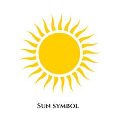 handwritten sun icon symbol vector image
