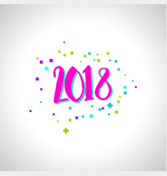Happy new year numbers vector
