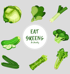 healthy food vegetables on white background vector image