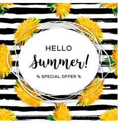 hello summer advertising background summer vector image