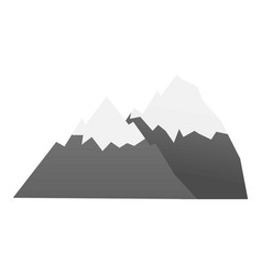 hiking mountain icon cartoon style vector image