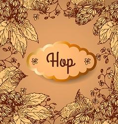 Hop vector image