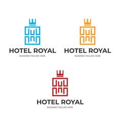 Hotel royal logo template image vector
