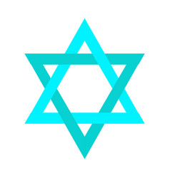 isolated jewish star vector image