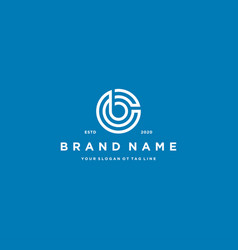 Letter cb logo design vector