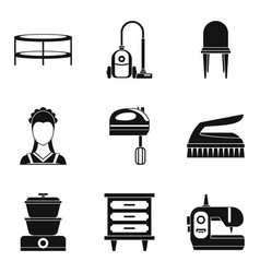 Lodging place icons set simple style vector