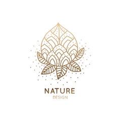 Logo flower lotus vector