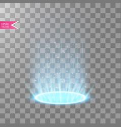 Magic portal of fantasy futuristic teleport vector