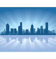 melbourne skyline vector image