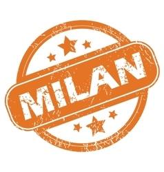 Milan round stamp vector