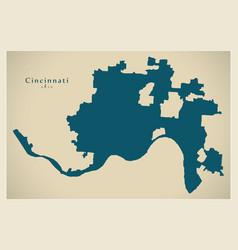 modern city map - cincinnati ohio city of the usa vector image