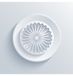 Modern Indian republic day circle icon vector