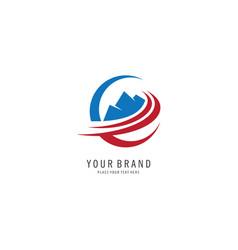 mount travel symbol logo vector image