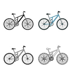 Mountain bike cycling downhill from the mountains vector