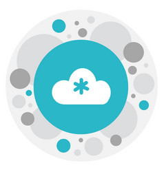 of climate symbol on winter vector image