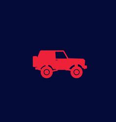 off-road car 4wd suv icon vector image