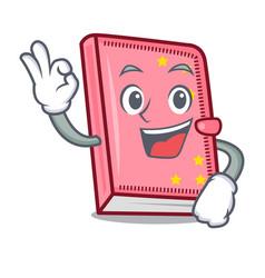 Okay diary character cartoon style vector