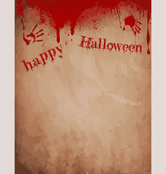 Old paper background with dripping blood bloody vector