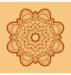 Ornamental outline mandala square flyer card vector image