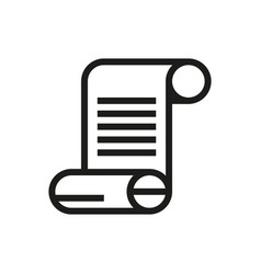 paper scroll icon on white background vector image
