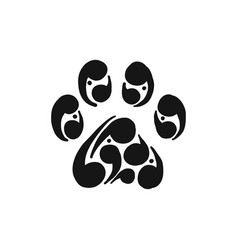 Paw print of dog icon for your design vector