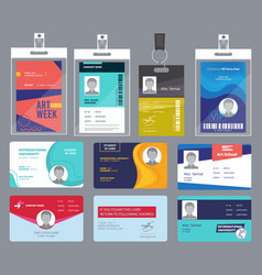 personal card id male or female passport or vector image