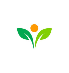 plant people logo icon design vector image