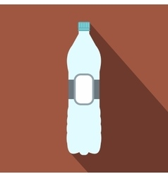 Plastic bottle flat icon vector image