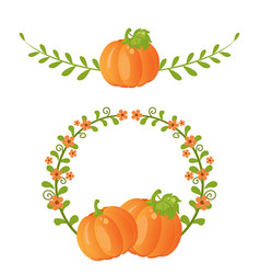 Pumpkin and leaves pumpkin and leaves vector