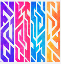 rainbow color geometric seamless pattern vector image