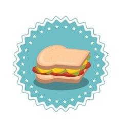 Sandwish fast food icon vector
