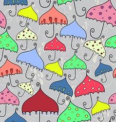 seamless pattern of fantasy umbrellas vector image