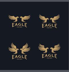 set eagle logo design eagle logo design vector image