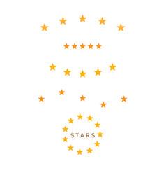 set of yellow stars symbol vector image