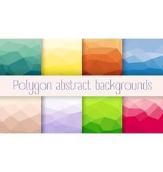 Set polygon abstrac vector image
