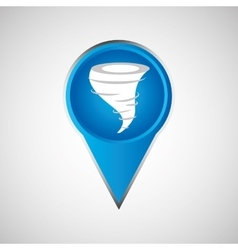 signal weather tornado pin design vector image