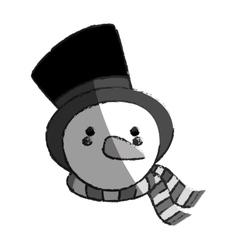 Snowman xmas cartoon vector